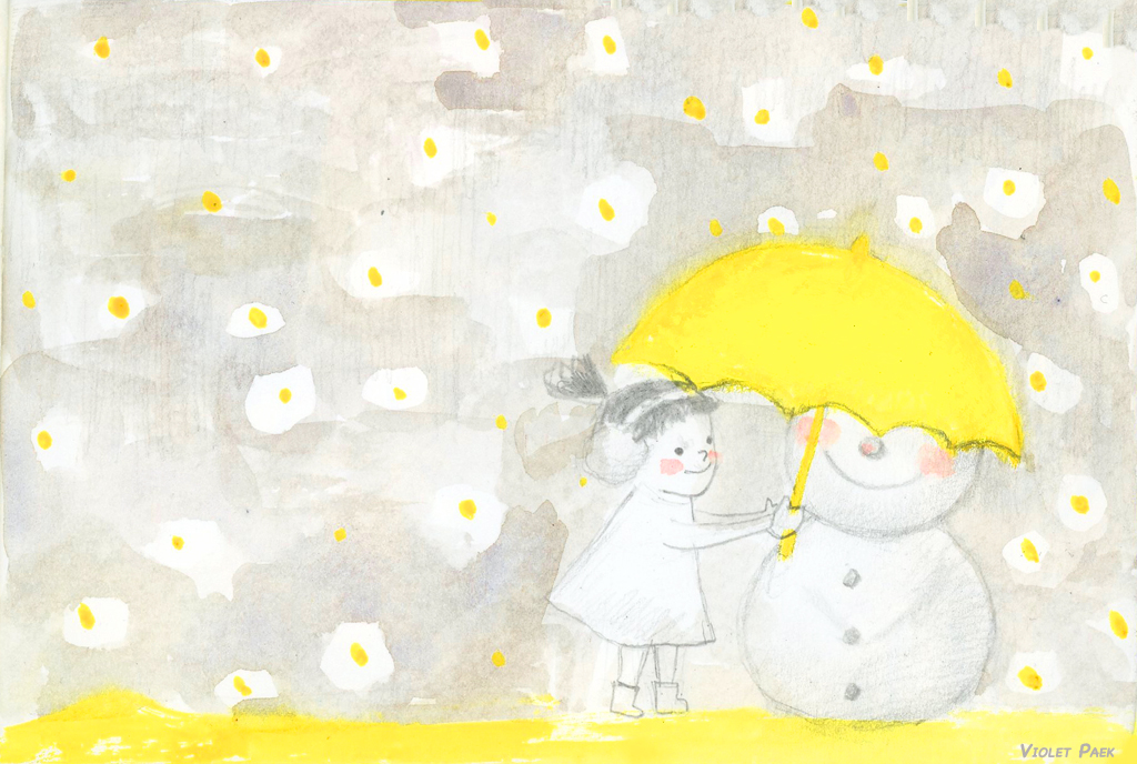 snowman ands yellow